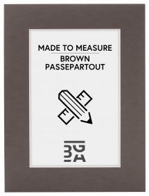 Passepartout Brun (Hvid kerne) - Bestilt efter mål