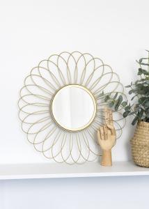 KAILA Spejl Flower - Guld 50 cm Ø