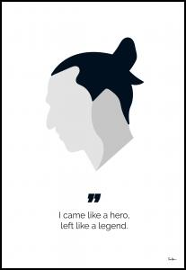 Zlatan the legend Plakat