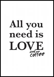 Love and coffee Plakat