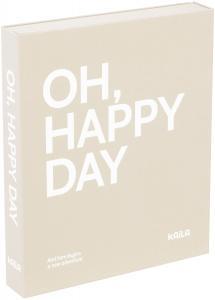 KAILA OH HAPPY DAY Grey - Coffee Table Photo Album (60 Sorte Sidere)