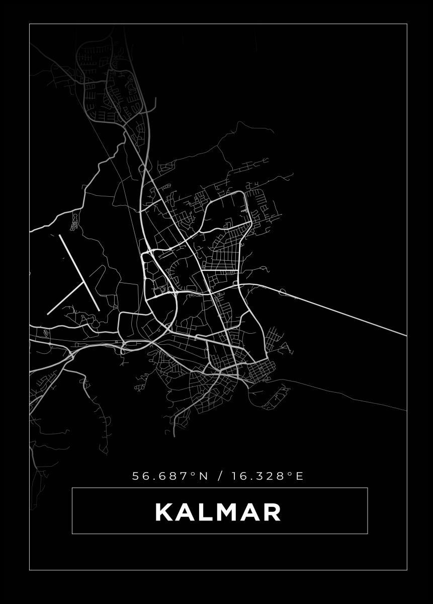 Kort Kalmar Sort Bga Dk