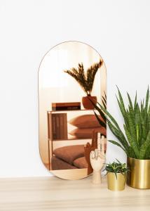 KAILA Spejl Oval Rose Gold 35x70 cm