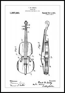 Patenttegning - Violin Plakat
