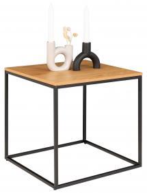 Sidebord Vita 45x45 cm - Sort/Eg