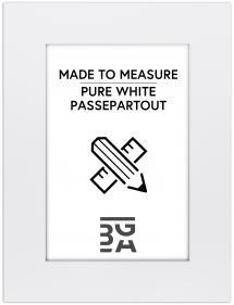Passepartout Kridhvid (Hvid kerne) - Bestilt efter mål