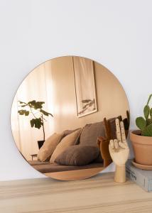 KAILA Rundt Spejl Rose Gold 50 cm Ø