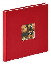 Fun Album rød - 26x25 cm (40 Hvide sider / 20 blade)