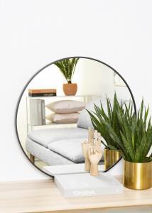 KAILA Round Mirror - Edge Black 70 cm Ø