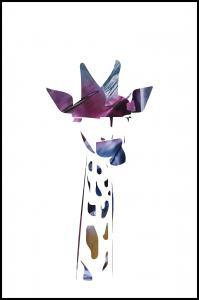 Giraffe night Plakat