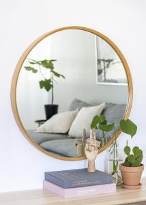 Spejl Bambus 80 cm Ø