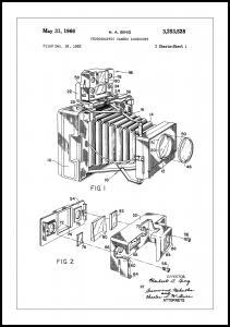 Patent Print - Photographic Camera - White Plakat
