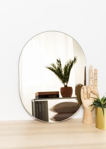 KAILA Spejl Oval Dark Bronze 30x40 cm