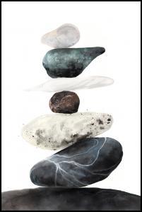 Stones from the beach Plakat