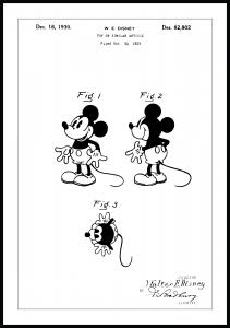 Patenttegning - Disney - Mickey Mouse Plakat
