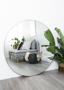 Spejl Antikmessing 110 cm ø