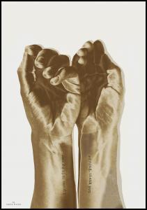 Gold hands Plakat
