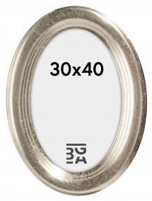 Molly ramme Oval Sølv 30x40 cm