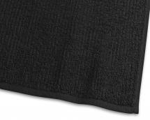 Håndklæde Stripe Frotté - Sort 50x70 cm