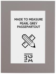 Passepartout Grå (Hvid kerne) - Bestilt efter mål