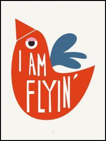 I Am Flying - Red Plakat