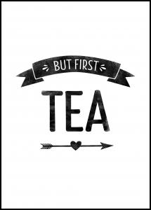 But first tea Retro Plakat