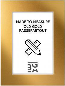Passepartout Old Gold - Bestilt efter mål