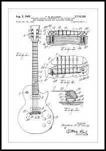 Patenttegning - Elguitar I Plakat