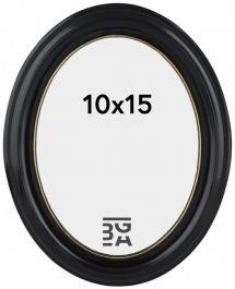 Eiri Mozart Oval Fotoramme Sort 10x15 cm