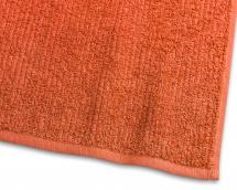 Gæstehåndklæde Stripe Frotté - Orange 30x50 cm