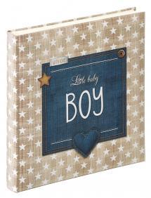 Little Babyalbum Boy Blå - 28x30,5 cm (50 Hvide sider / 25 blade)
