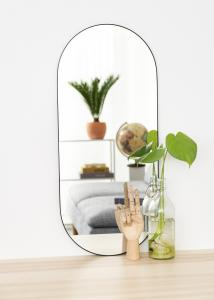 KAILA Oval Mirror - Thin Black 35x80 cm