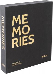 KAILA MEMORIES Black - Coffee Table Photo Album (60 Sorte Sider / 30 Blade)