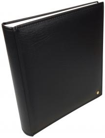 Henzo Lonzo Album - Sort - 28x30 cm (70 Hvide sider / 35 blade)