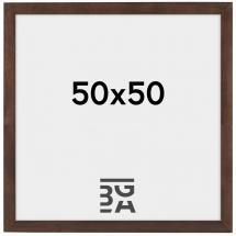 Stilren Billedramme Valnød 50x50 cm