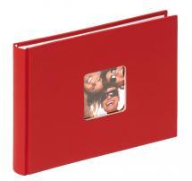 Fun Album rød - 22x16 cm (40 Hvide sider / 20 blade)