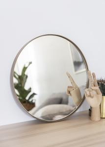 Spejl House Doctor Reflektion Antik Messing 40 cm Ø