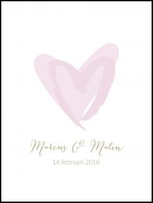 Love Weddingposter Pink