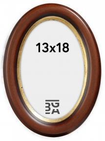 Molly ramme Oval Brun 13x18 cm