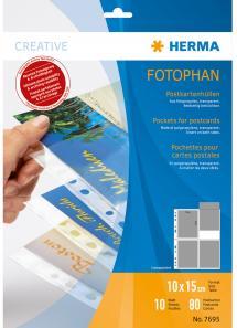 Herma Fotolommer til postkort - 10 blade