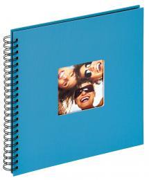 Fun Spiralalbum Havsblå - 30x30 cm (50 Sorte sider / 25 blade)