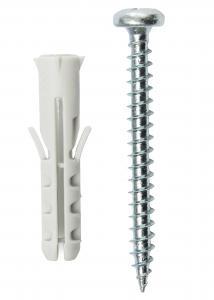 Rawlplugs 25 x 5,5 mm med skrue 10-p