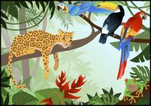 Jungle Animals Plakat