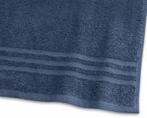 Badehåndklæde Basic Frotté - Blå 65x130 cm