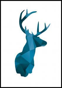 Deer - Blå Plakat