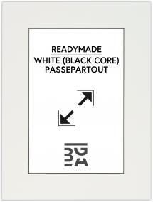 Passepartout Hvid (Sort kerne) 30x40 cm (19x29 cm)