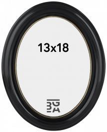 Eiri Mozart Oval Fotoramme Sort 13x18 cm