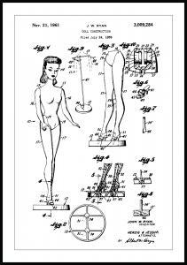 Patenttegning - Barbie Plakat