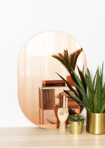 KAILA Spejl Oval Rose Gold 50x70 cm