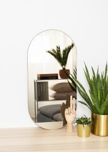 KAILA Spejl Oval Dark Bronze 35x70 cm